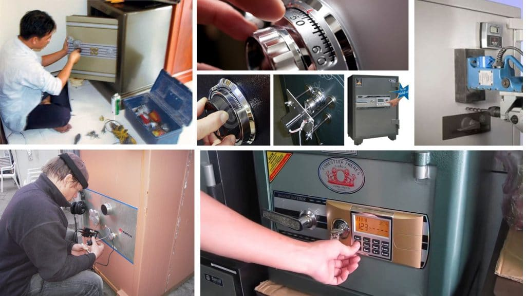 Cách phá khóa két sắt theo phương pháp kỹ thuật