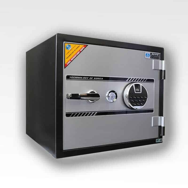 Két sắt RITO RT42-V (Khóa vân tay kết hợp điện tử- thép dày 1mm) 2